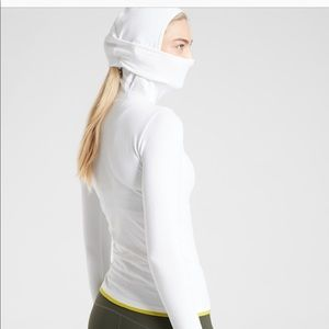 Athleta flurry top for winter sports or skiing